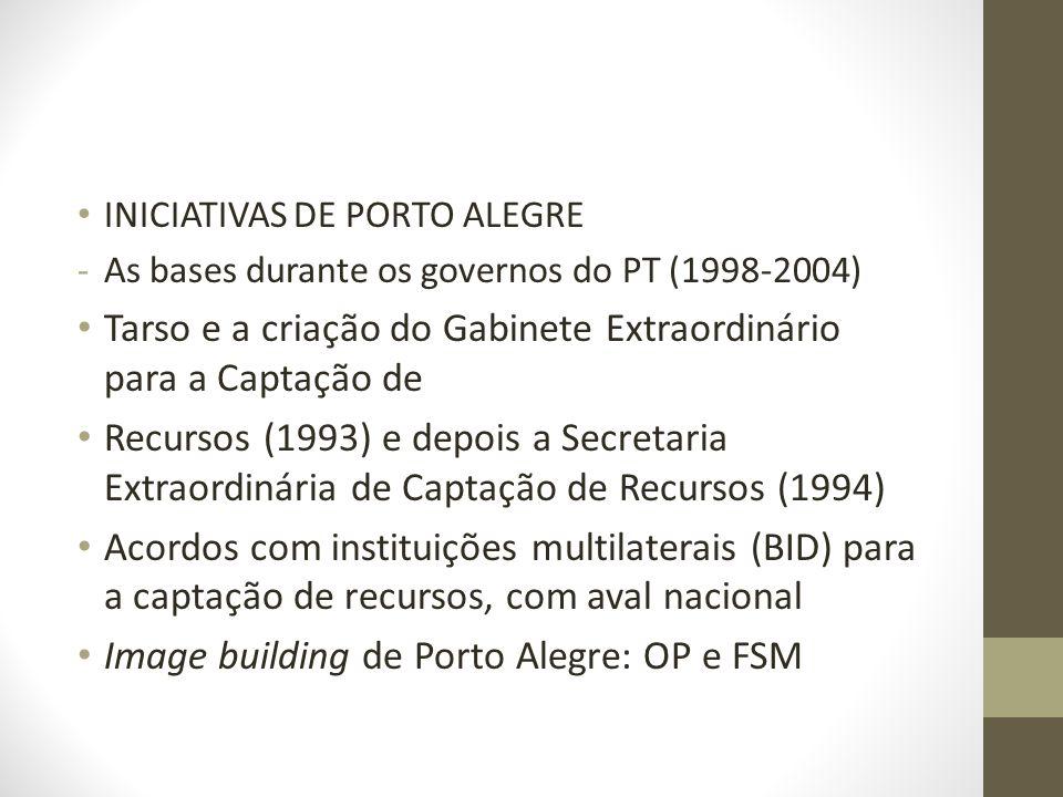 Tarso e a criação do Gabinete Extraordinário para a Captação de