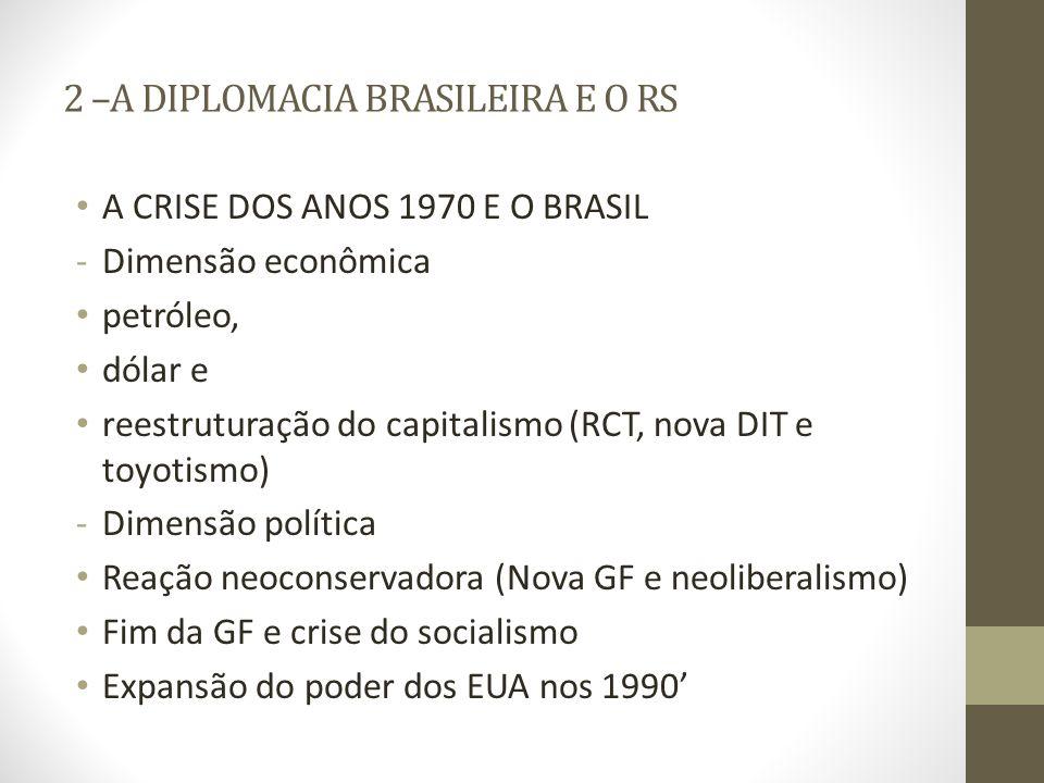 2 –A DIPLOMACIA BRASILEIRA E O RS