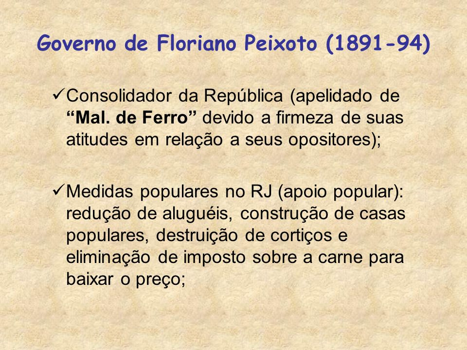 Governo de Floriano Peixoto (1891-94)