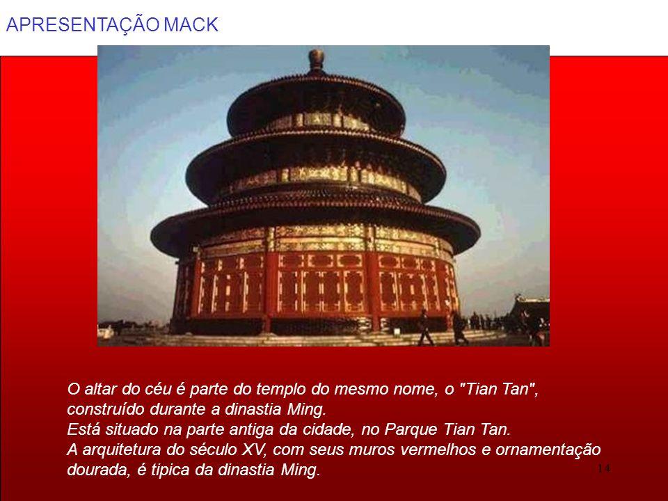 O altar do céu é parte do templo do mesmo nome, o Tian Tan ,