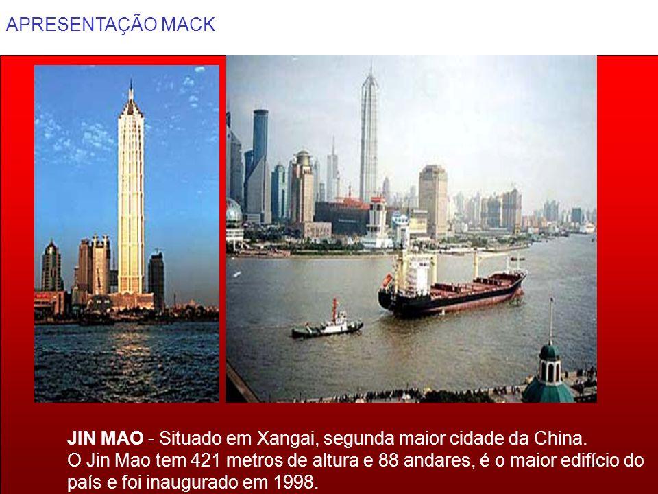 JIN MAO - Situado em Xangai, segunda maior cidade da China.
