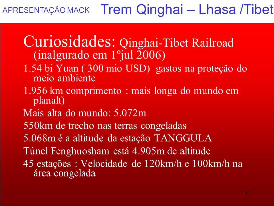 Trem Qinghai – Lhasa /Tibet