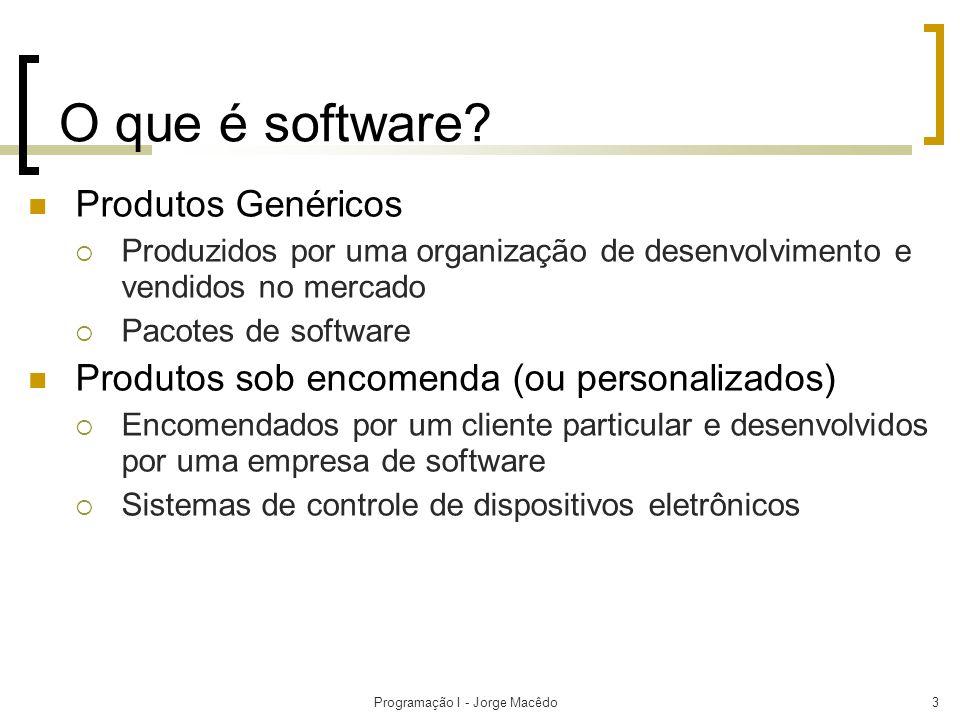 Programação I - Jorge Macêdo