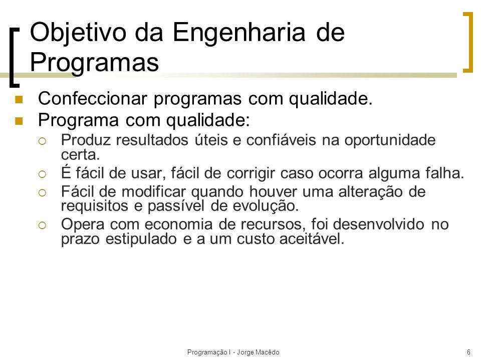 Objetivo da Engenharia de Programas