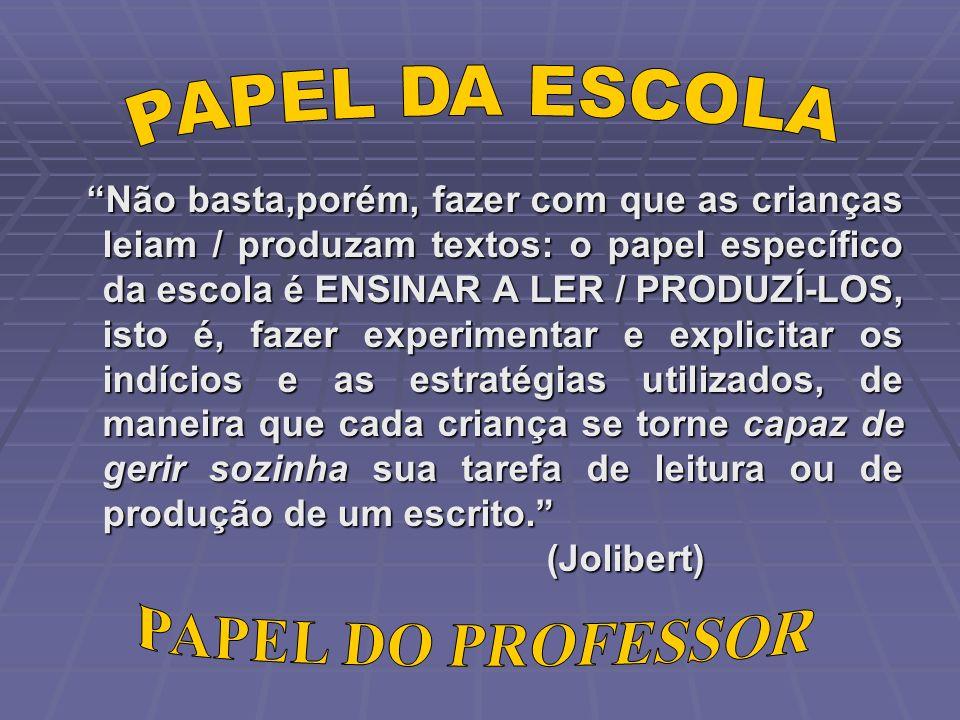 PAPEL DA ESCOLA