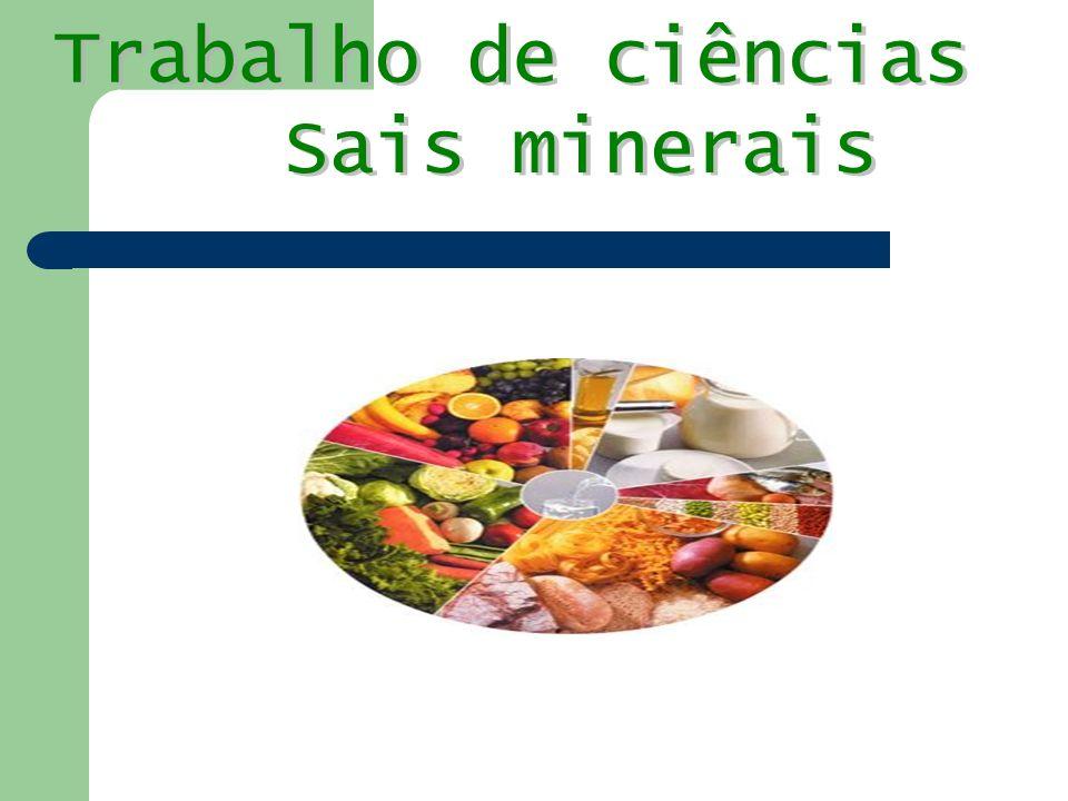 Trabalho de ciências Sais minerais
