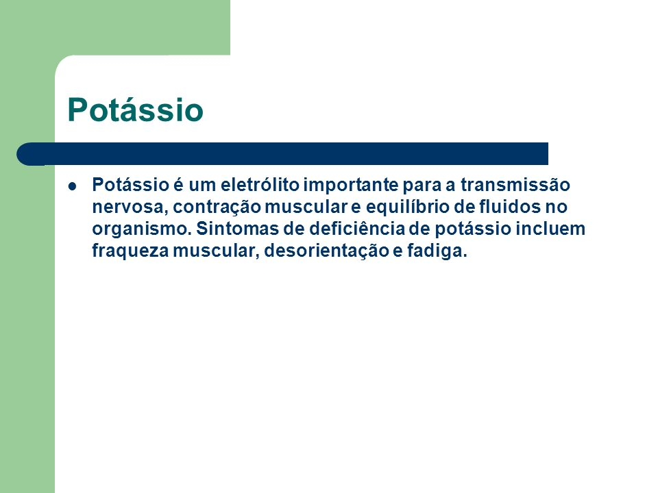 Potássio