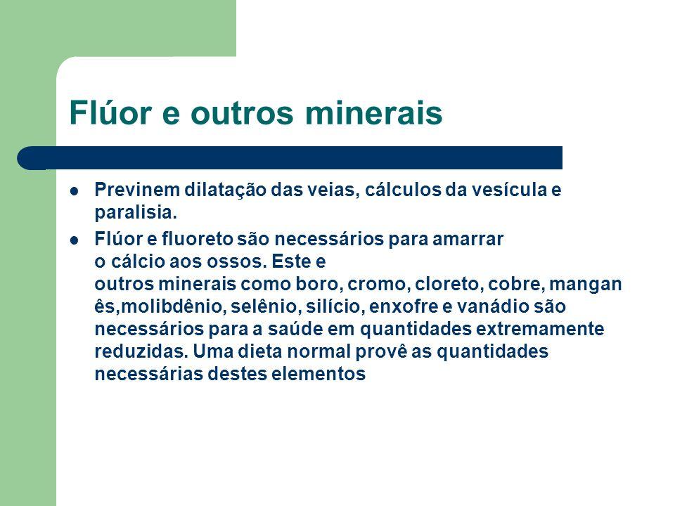 Flúor e outros minerais