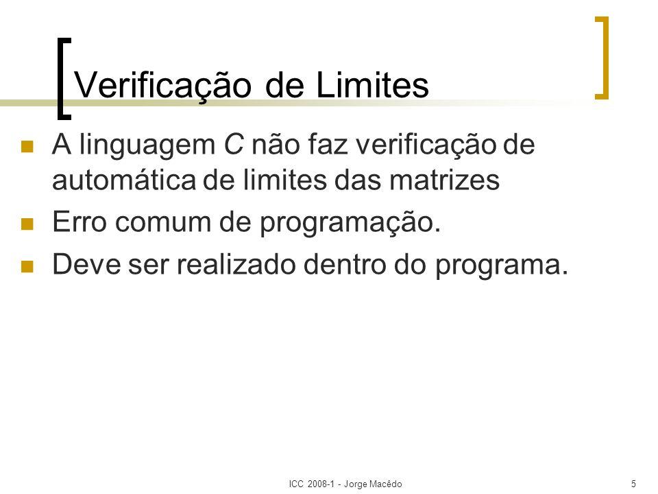 Verificação de Limites
