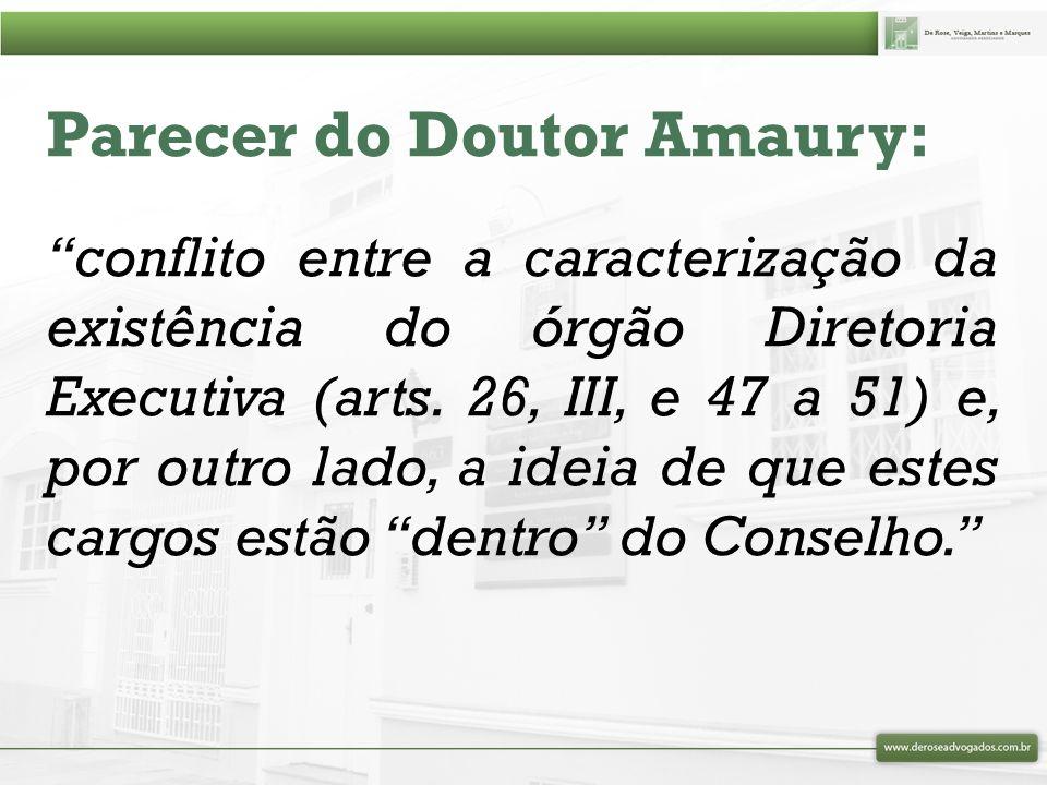 Parecer do Doutor Amaury: