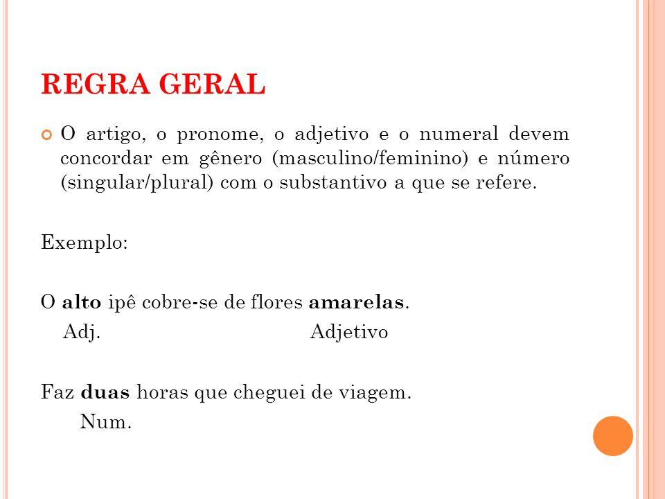 REGRA GERAL