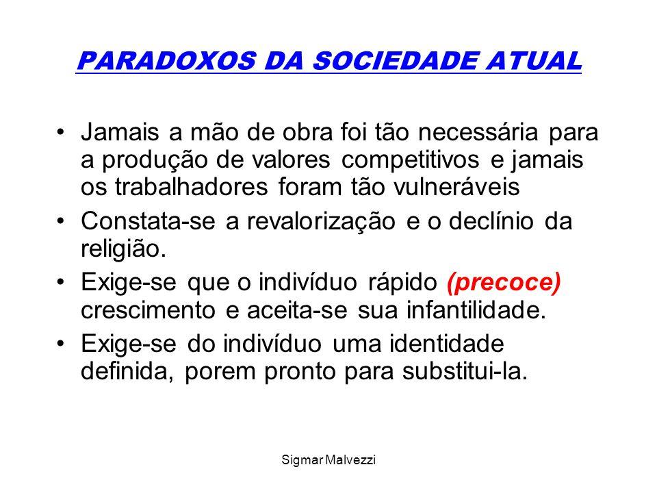 PARADOXOS DA SOCIEDADE ATUAL