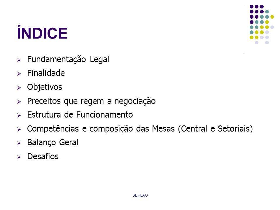 ÍNDICE Fundamentação Legal Finalidade Objetivos