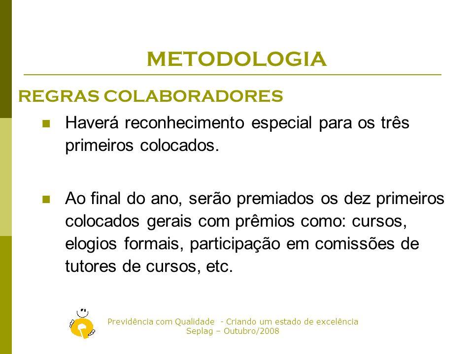METODOLOGIA REGRAS COLABORADORES