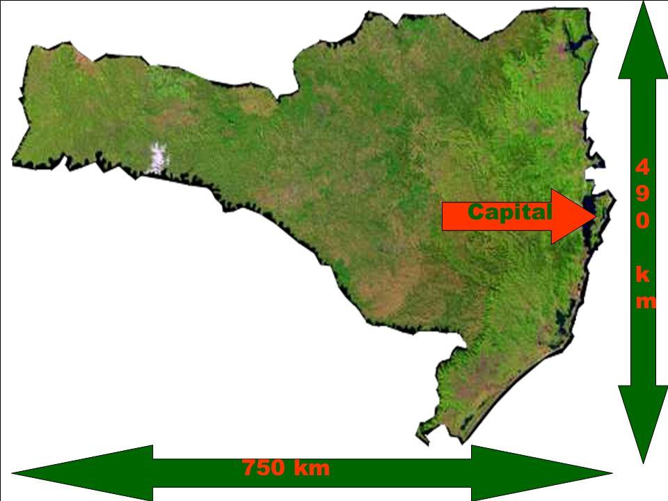 750 km 490 km Capital