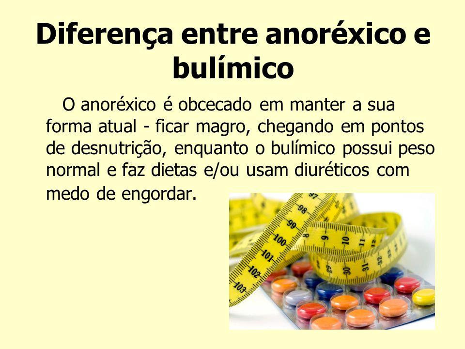 Diferença entre anoréxico e bulímico