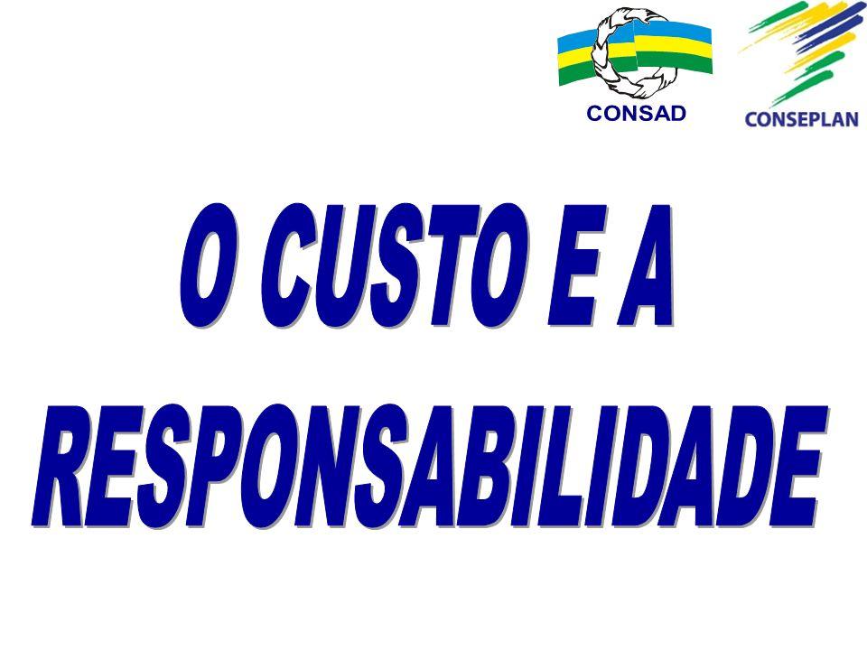 CONSAD O CUSTO E A RESPONSABILIDADE