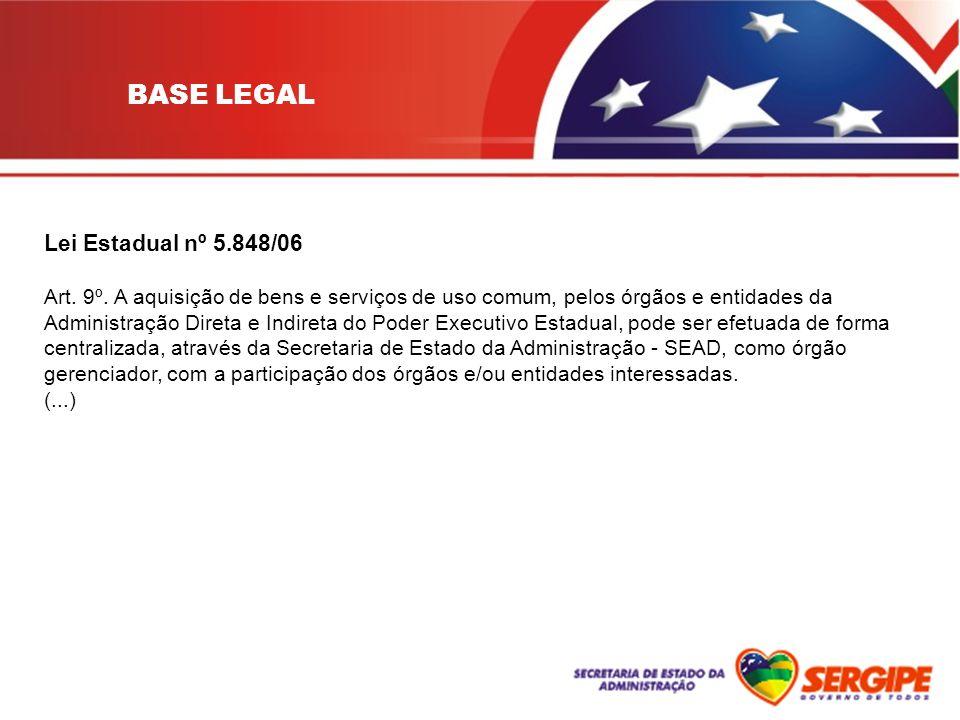 BASE LEGAL Lei Estadual nº 5.848/06