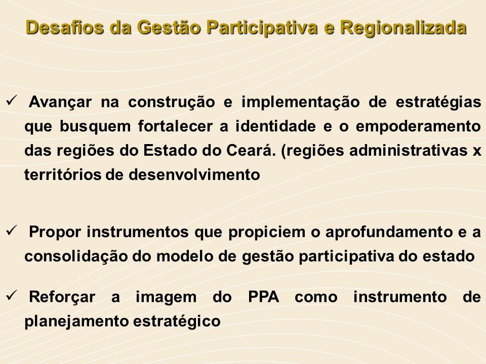 Desafios da Gestão Participativa e Regionalizada