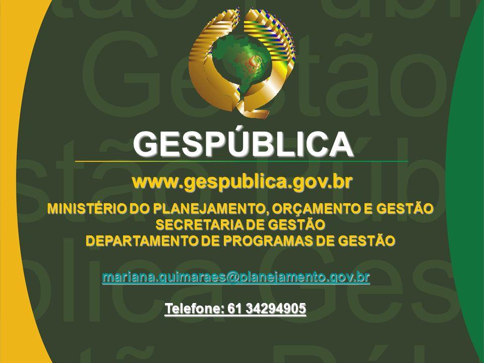 GESPÚBLICA www.gespublica.gov.br