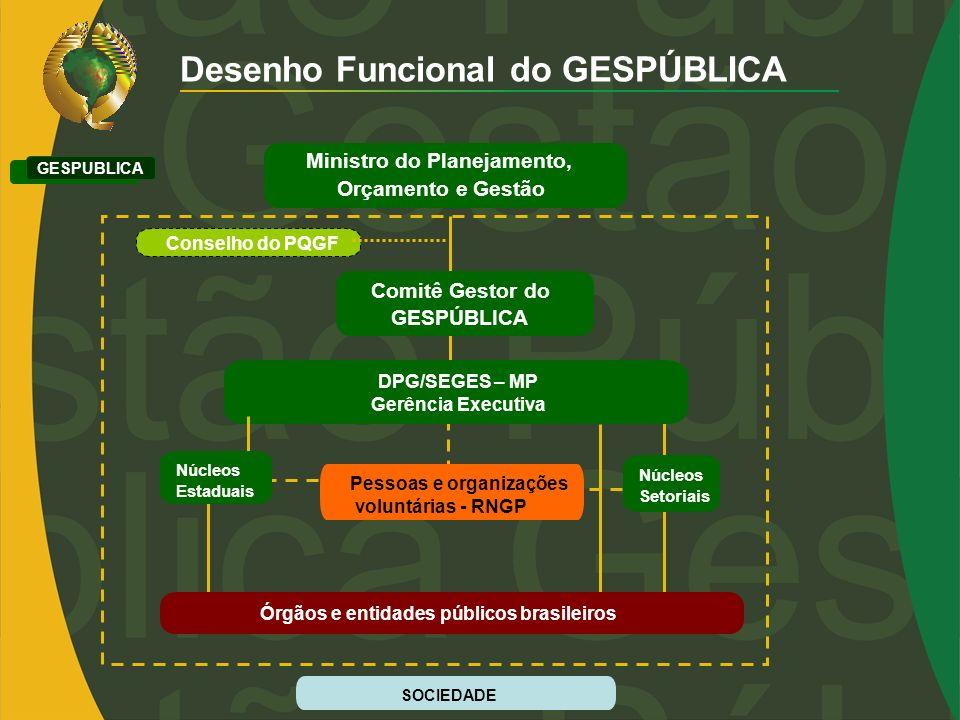 Desenho Funcional do GESPÚBLICA