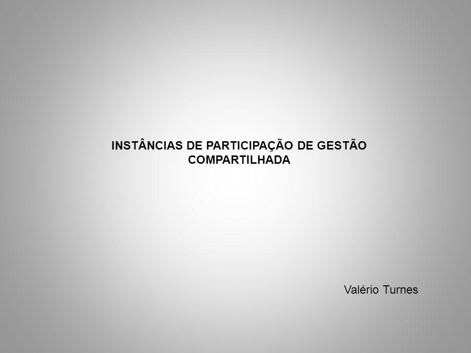 INSTÂNCIAS DE PARTICIPAÇÃO DE GESTÃO COMPARTILHADA
