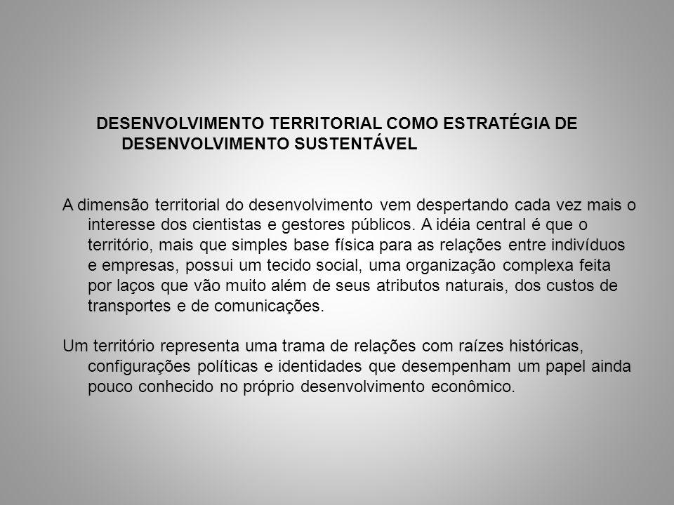 DESENVOLVIMENTO TERRITORIAL COMO ESTRATÉGIA DE DESENVOLVIMENTO SUSTENTÁVEL