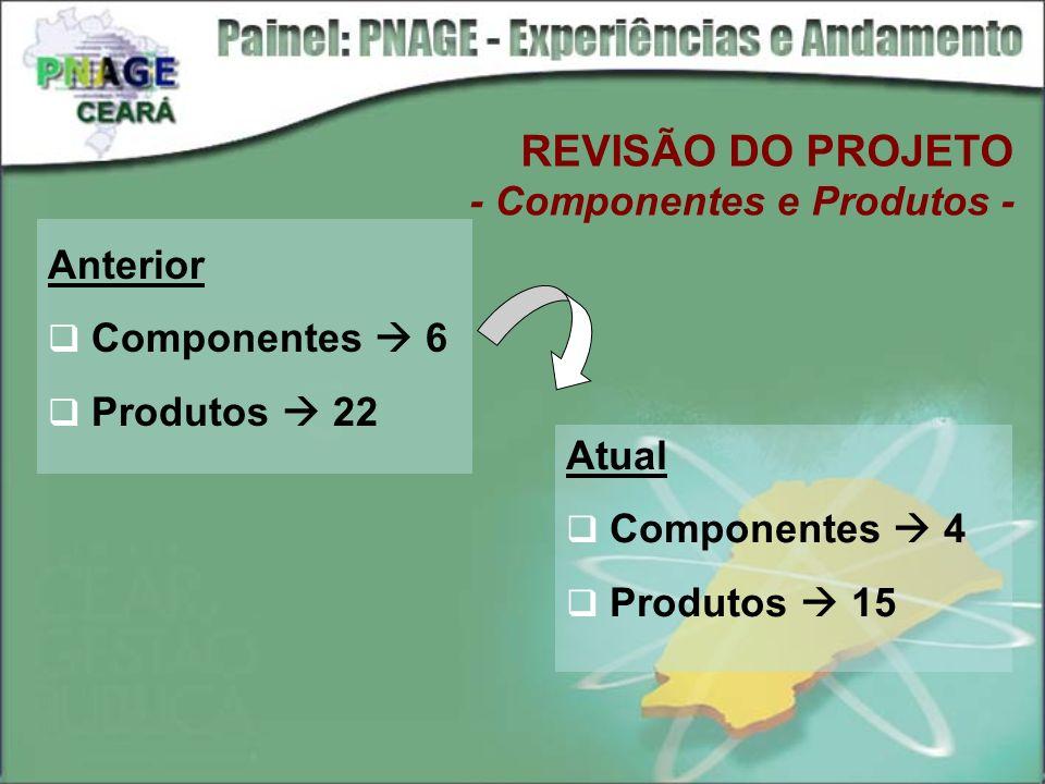 REVISÃO DO PROJETO - Componentes e Produtos -