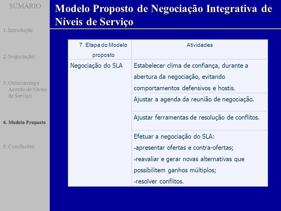 7. Etapa do Modelo proposto
