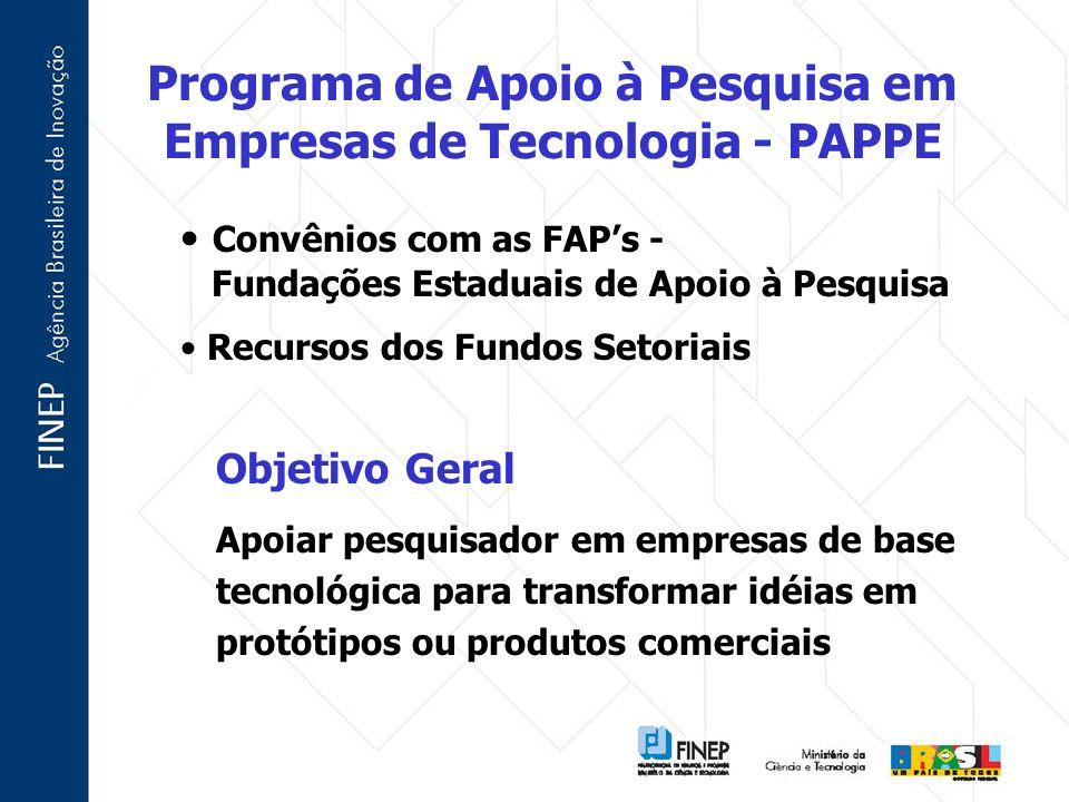 Programa de Apoio à Pesquisa em Empresas de Tecnologia - PAPPE