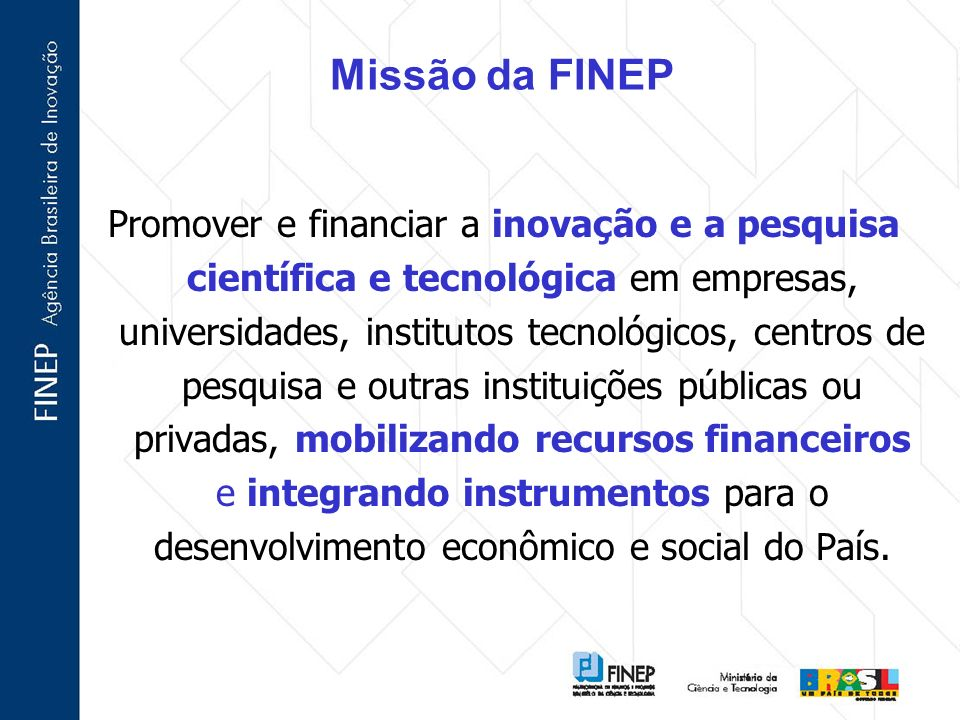 Missão da FINEP