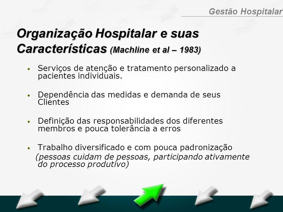 Organização Hospitalar e suas Características (Machline et al – 1983)