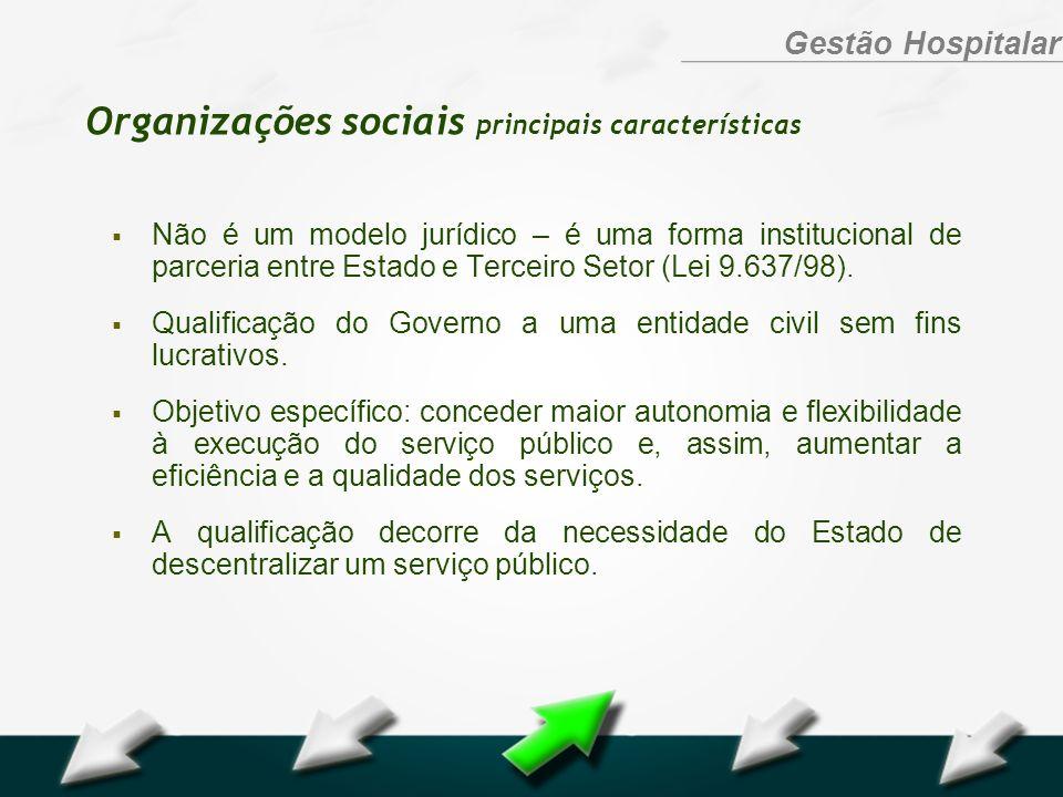 Organizações sociais principais características