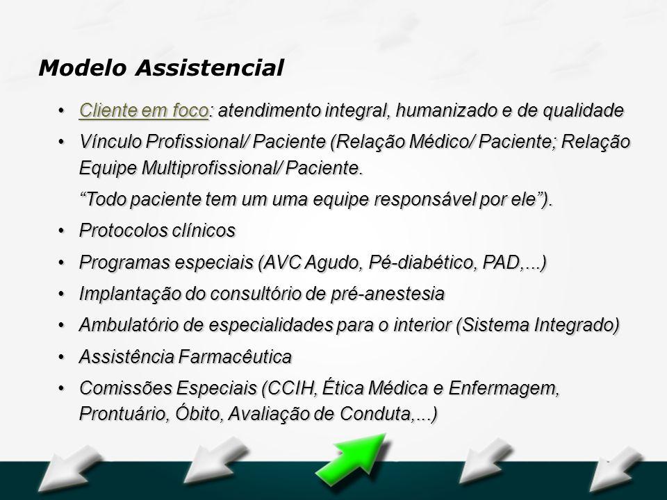 Modelo Assistencial Cliente em foco: atendimento integral, humanizado e de qualidade.