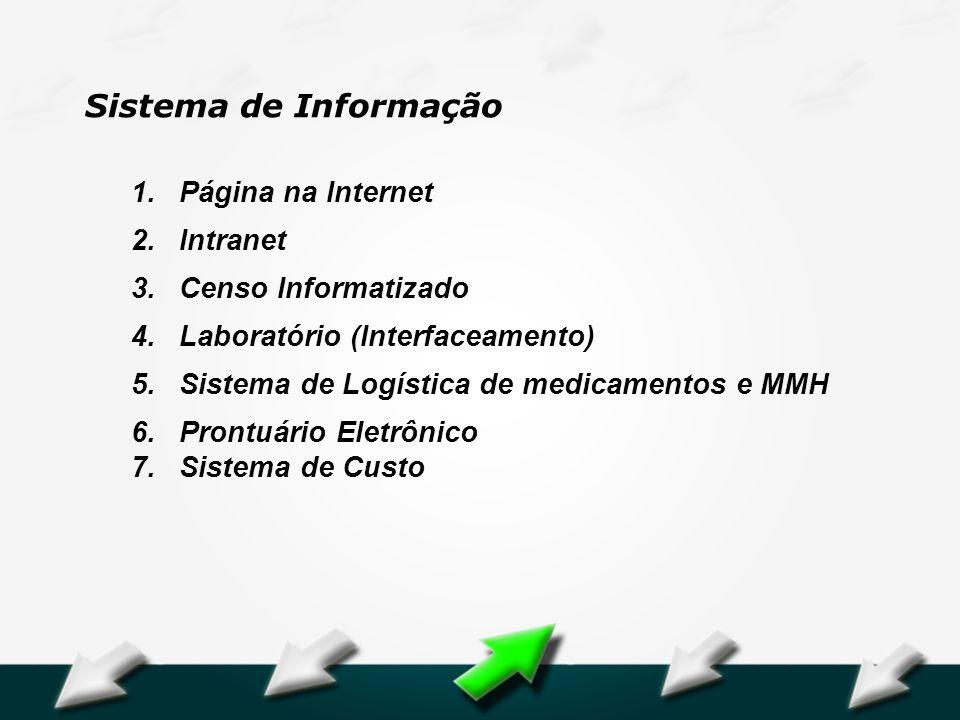 Sistema de Informação Página na Internet Intranet Censo Informatizado