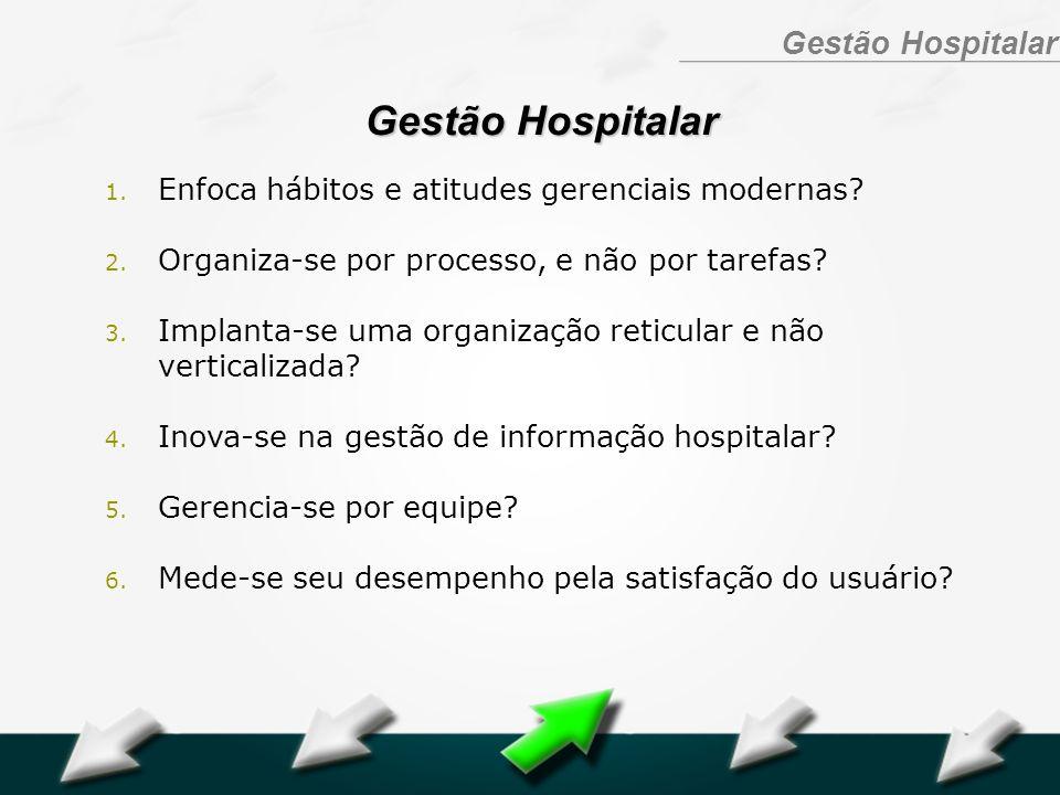 Gestão Hospitalar Enfoca hábitos e atitudes gerenciais modernas