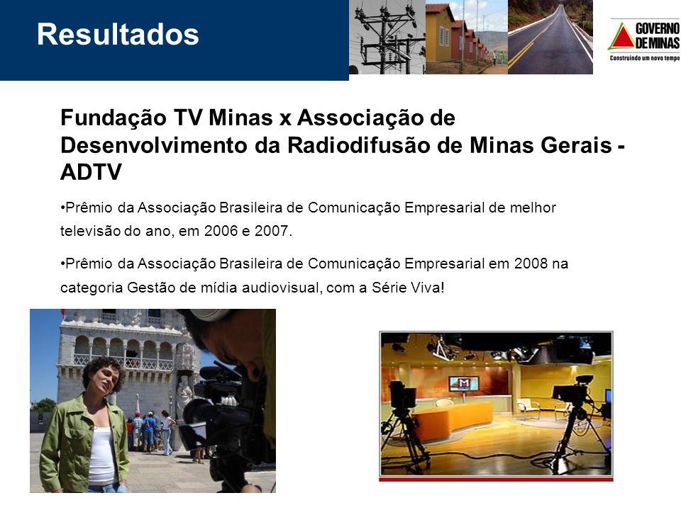 Resultados Fundação TV Minas x Associação de Desenvolvimento da Radiodifusão de Minas Gerais - ADTV.