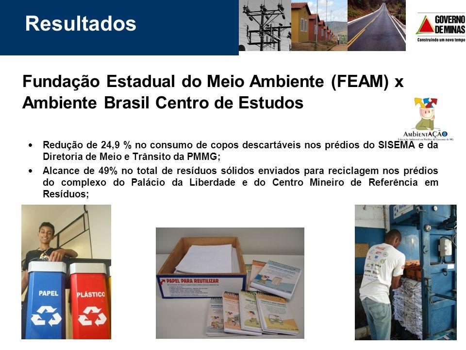 Resultados Fundação Estadual do Meio Ambiente (FEAM) x Ambiente Brasil Centro de Estudos.