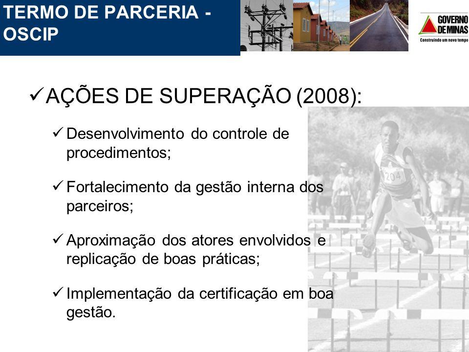 AÇÕES DE SUPERAÇÃO (2008): TERMO DE PARCERIA - OSCIP