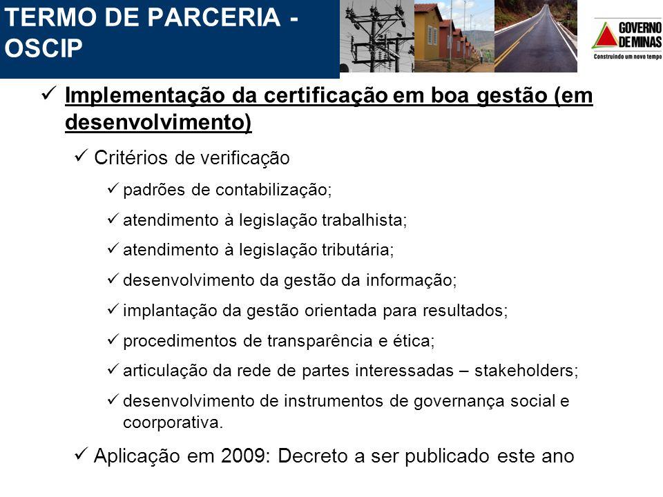 TERMO DE PARCERIA - OSCIP