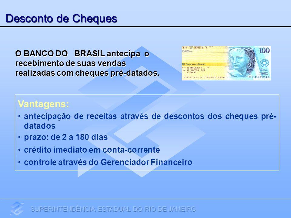 Desconto de Cheques Vantagens: