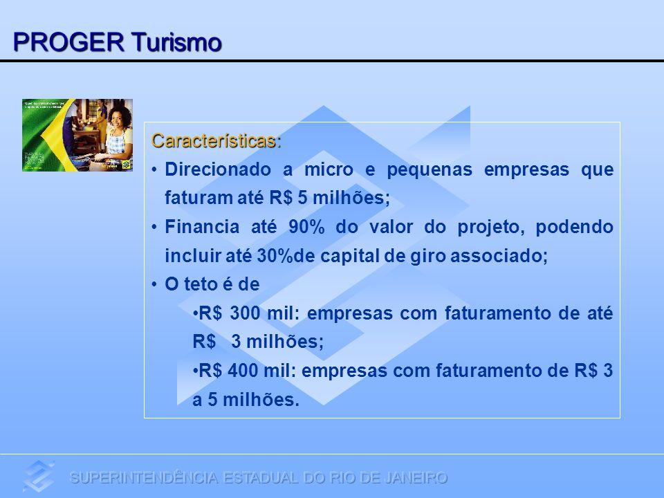 PROGER Turismo Características:
