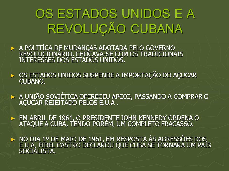 OS ESTADOS UNIDOS E A REVOLUÇÃO CUBANA
