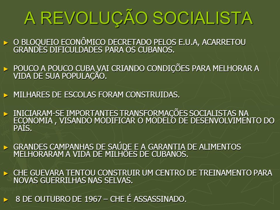 A REVOLUÇÃO SOCIALISTA