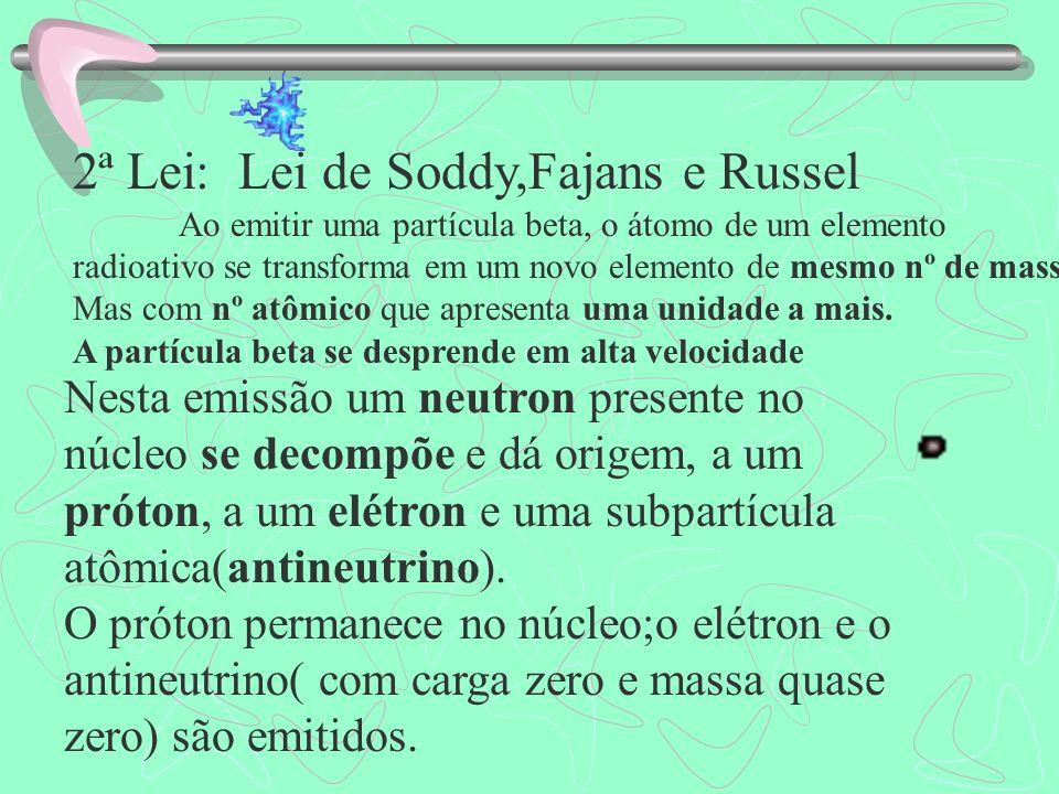 2ª Lei: Lei de Soddy,Fajans e Russel