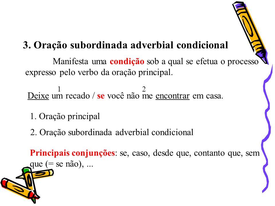 3. Oração subordinada adverbial condicional