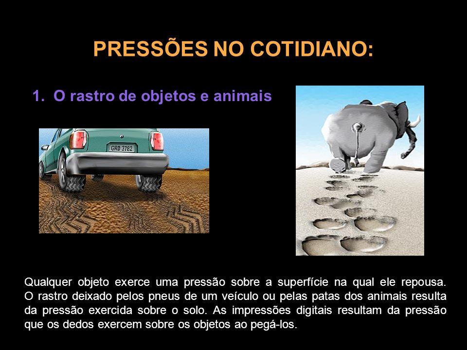 PRESSÕES NO COTIDIANO: