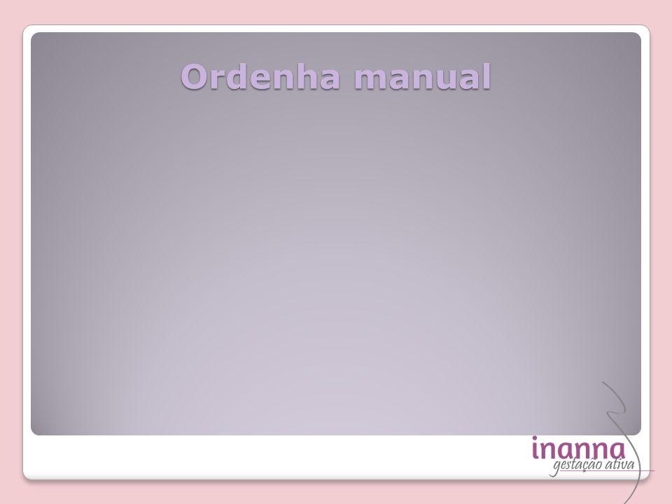 Ordenha manual