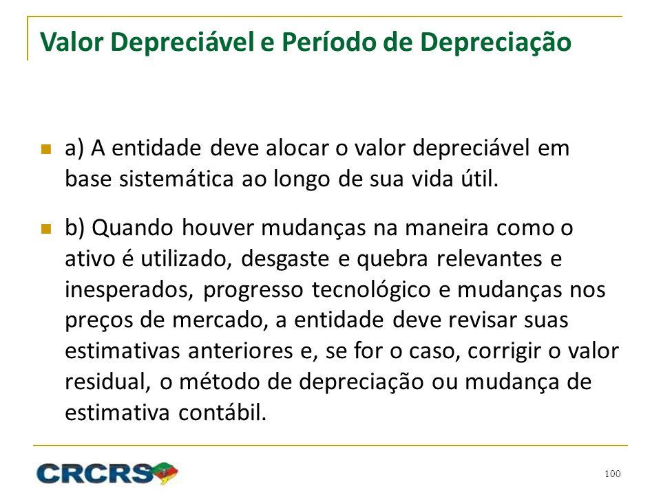 Valor Depreciável e Período de Depreciação