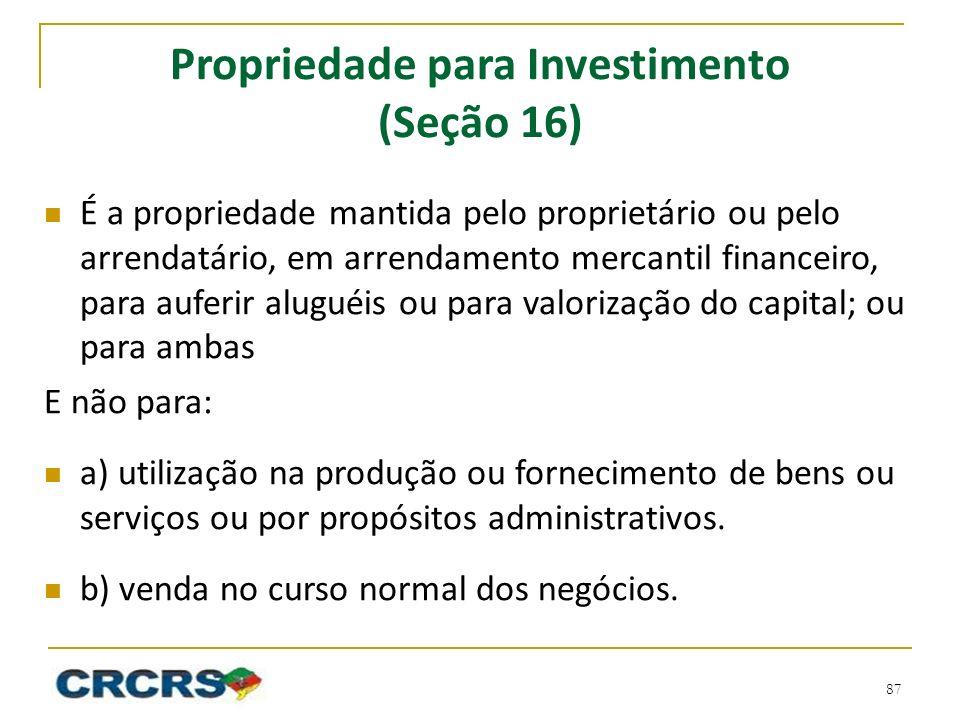 Propriedade para Investimento (Seção 16)